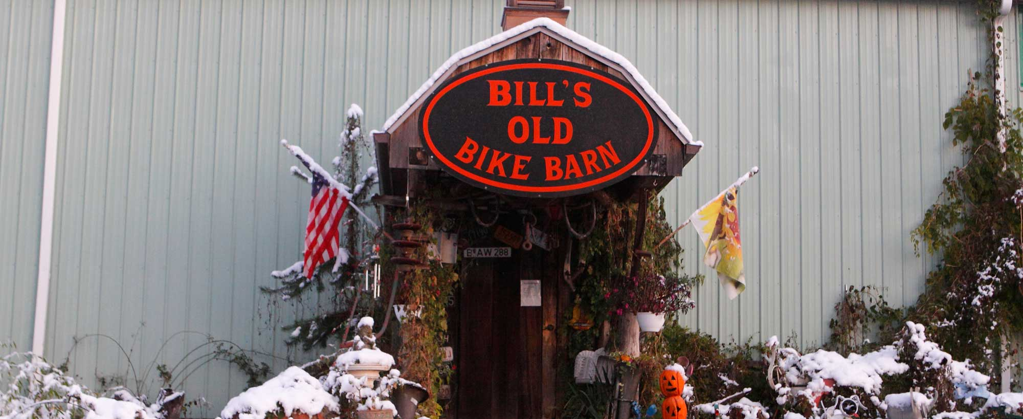 """Visit Bill's Old Bike Barn. An experience you'll never forget"